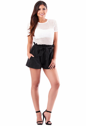 Kourtney High Waist Shorts - Black