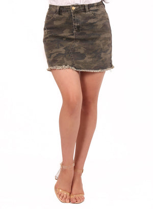 Allison Army Print Skirt