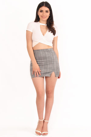 Cher Checkered Mini Skirt