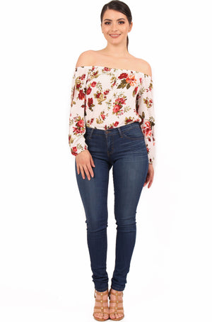Anabel Floral Off The Shoulder Top
