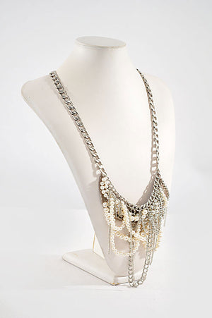 Pearl Draped Necklace