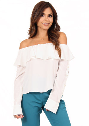 Perla Off The Shoulder Top - Ivory