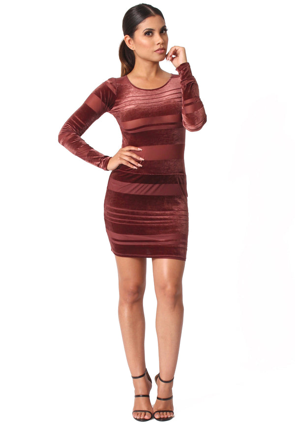 Sandra Velvet Mini Dress