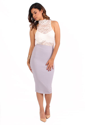 Mariana Zipper Skirt - Lavender