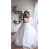 Plus size bridal ball gown with tulle skirt