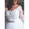 Close up of lace bodice wedding dress