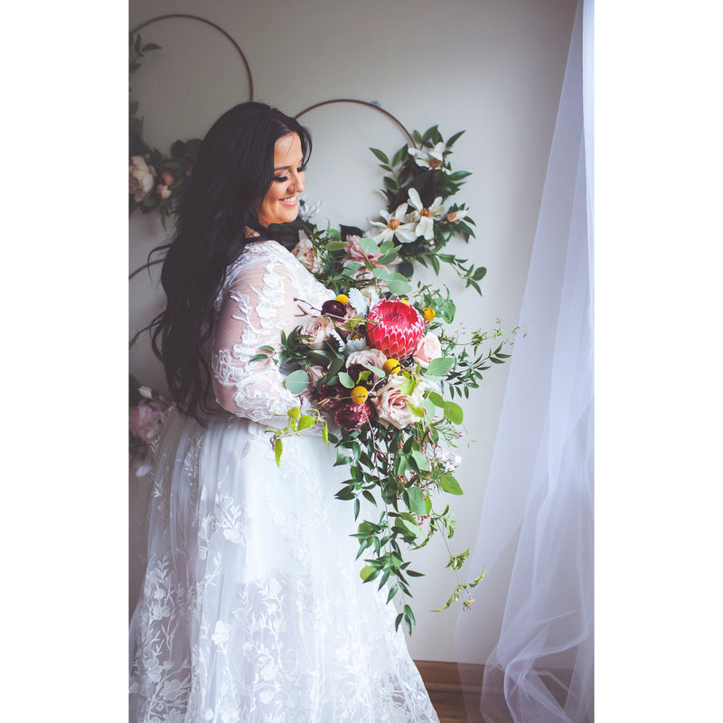 Poppy - Bohemian Plus Size Wedding Gown