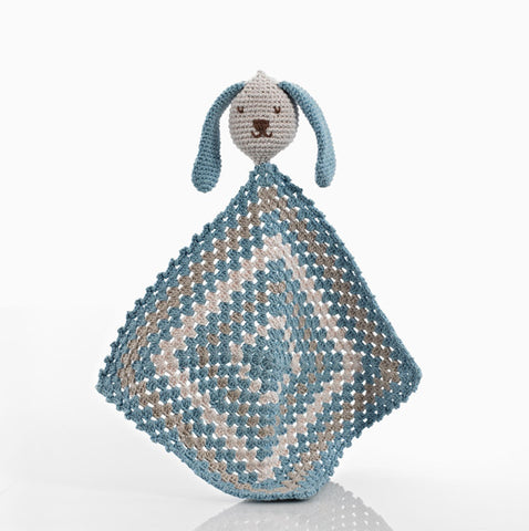 Organic Cotton Bunny Comforter - Blue