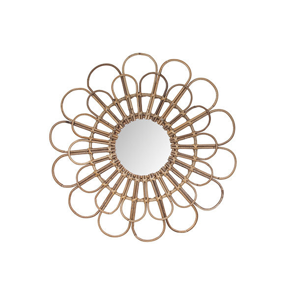 Rattan Flower Mirror - General Eclectic