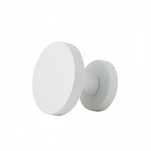 White Round Wall Hook - Medium