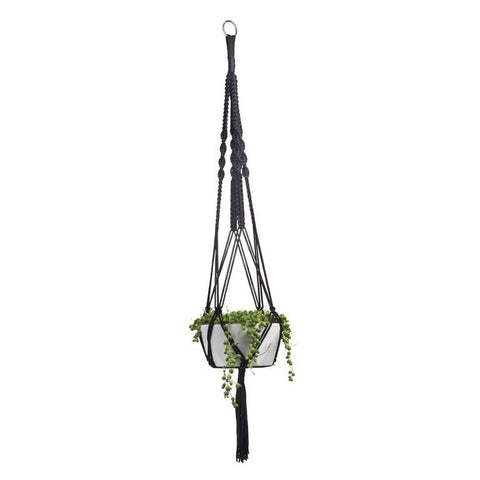 Macrame Plant Holder - Black