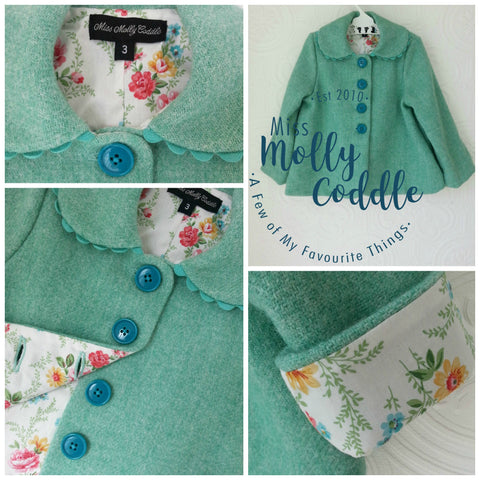 'Wildflowers' Little Ladies Coat - Size 3