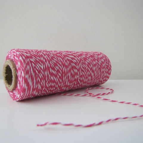 Baker's Twine - Hot Pink & White