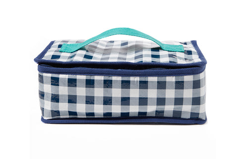 Project Ten - Navy Gingham Lunch Bag