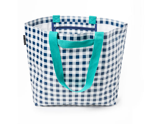 Project Ten - Navy Gingham Medium Tote