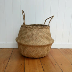 Belly Basket - Natural Seagrass - MissMollyCoddle