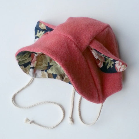 Little Lamb Baby Bonnet - Vintage floral