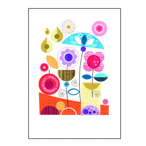 Spring Rain  - Signed print of paper cut art