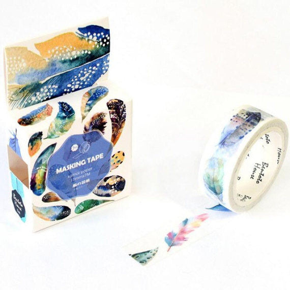 Watercolour Feather Washi Tape