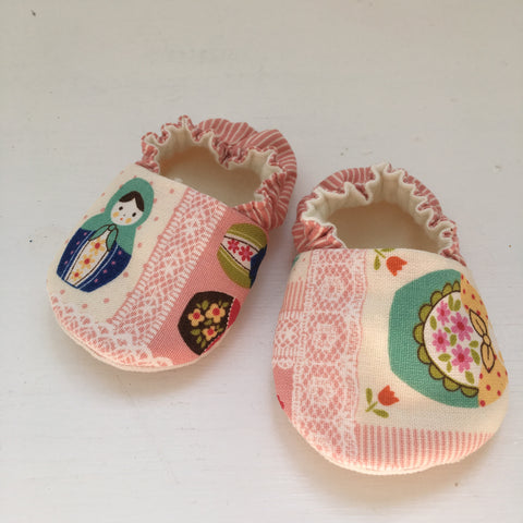 Russian Doll Shoes 0-6 months