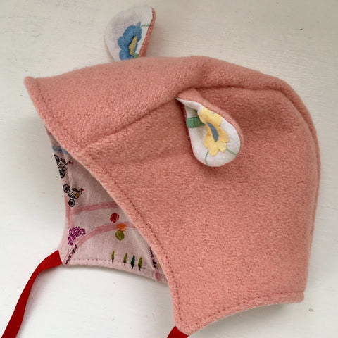 Parisian little lamb bonnet 6 -12 months