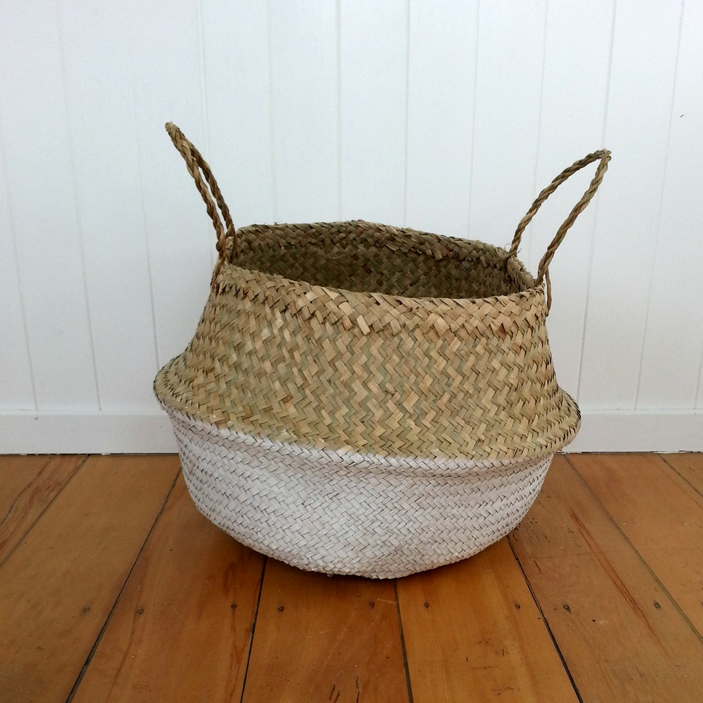 Belly Basket - White dipped - MissMollyCoddle