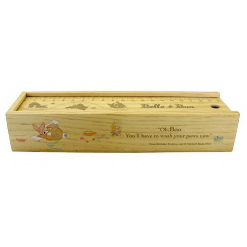 Belle & Boo Wooden Sliding Pencil Box