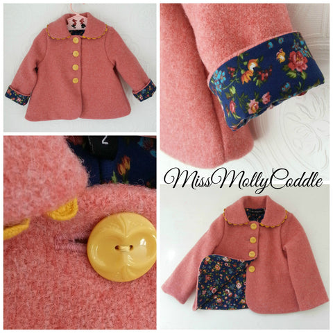 'Sweet Pea' Little Ladies Coat - Size 2