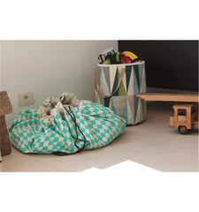 Play & Go storage bag and play mat - Diamond Green