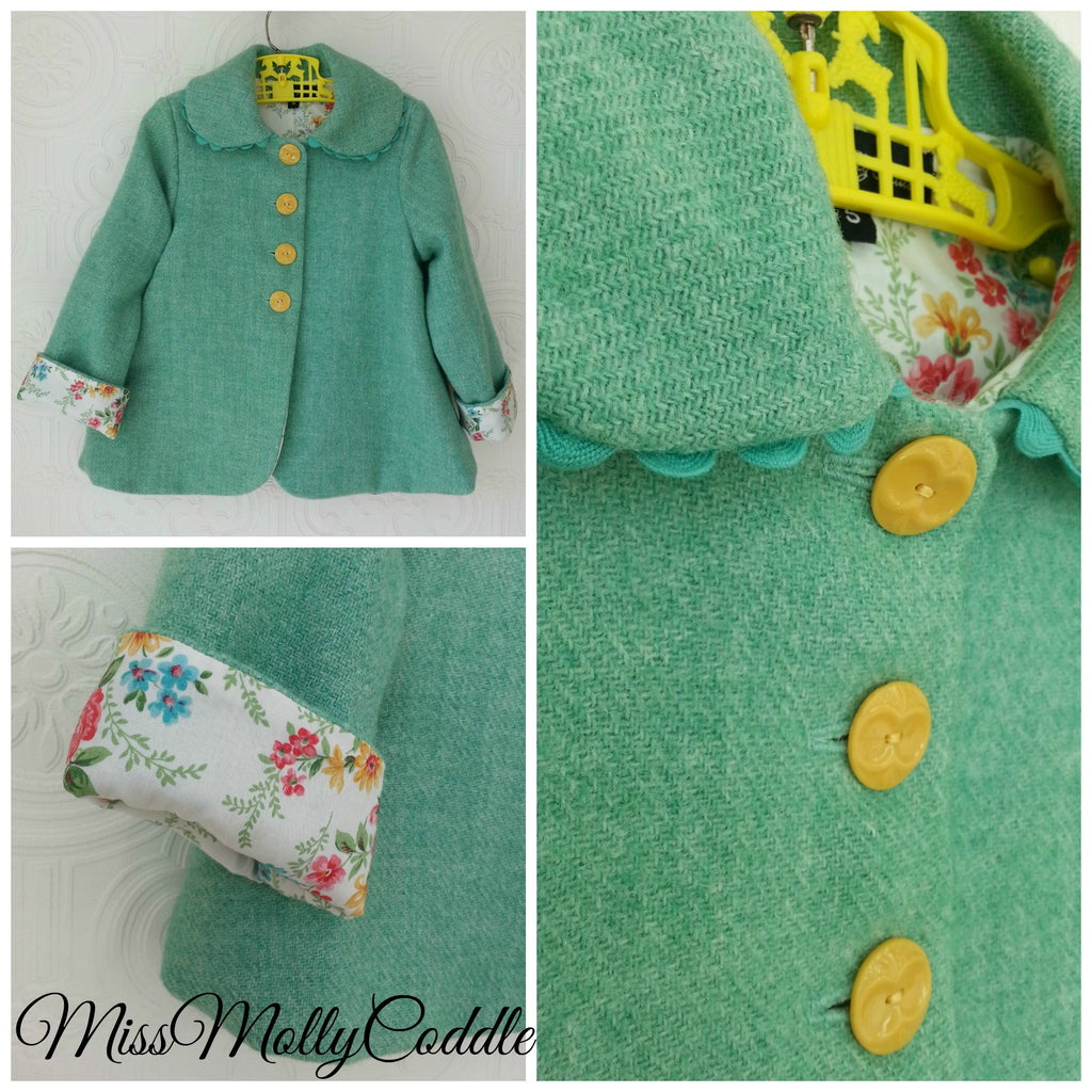 'Wildflowers' Little Ladies Coat - Size 5