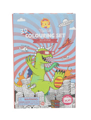 3D Sci Fi Fun Colouring set - Dinosaurs
