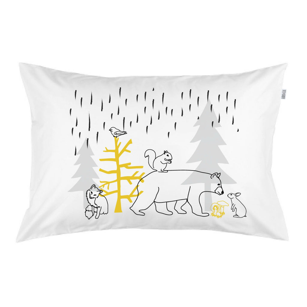 Woodland Dash 3 Colour Pillowcase