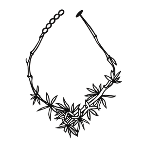 Bamboo Necklace Black