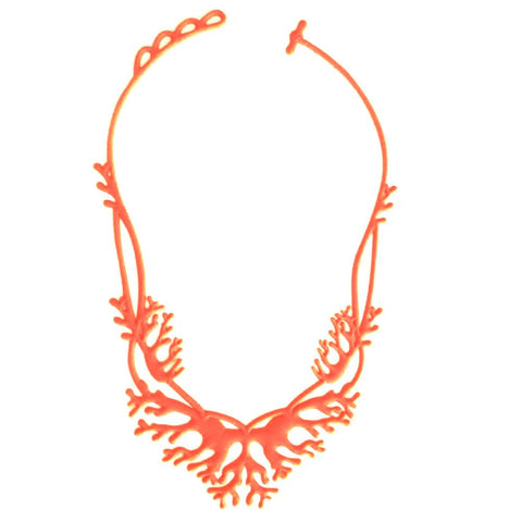 Coral Necklace Orange