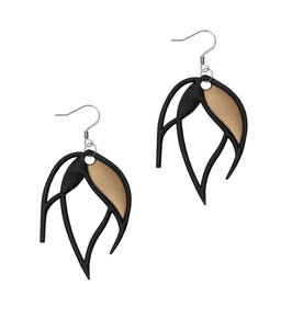 Batucada Flame Earring black-gold