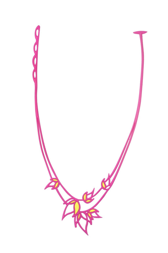 Batucada Flame Necklace - Pink / Yellow