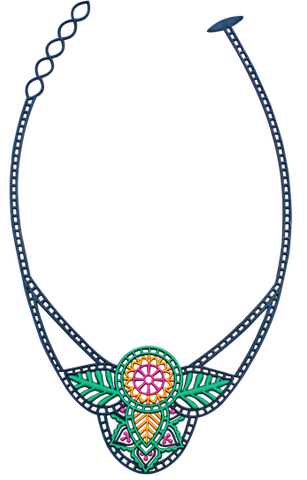 Batucada Indian Necklace - multi colour