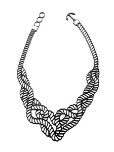 Batucada Marina Necklace - Black/White