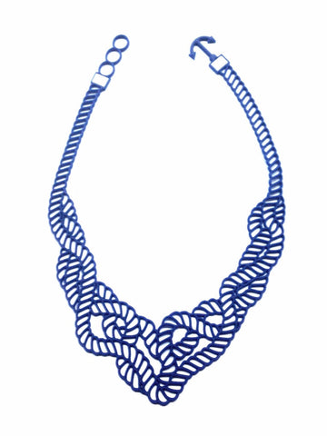 Batucada marina Necklace - Blue/white