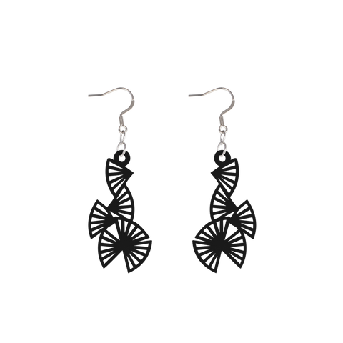 Origami Earring Black
