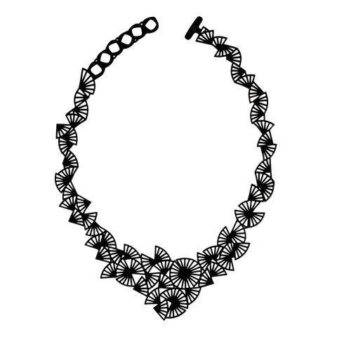 Origami Necklace Black
