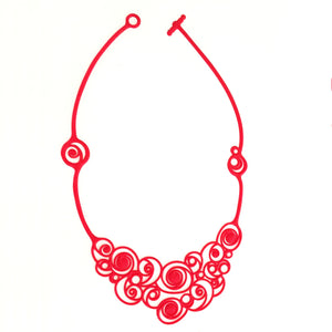 Summer Spirals Necklace Red
