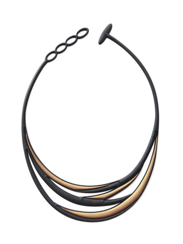Batucada Swell Necklace -  blue/gold