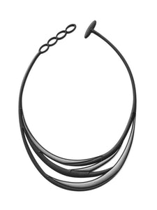 Batucada Swell Necklace - black/silver