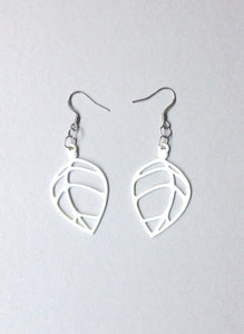 Batucada Acacia Earrings White