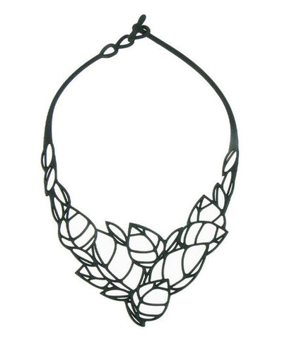 Batucada Acacia Necklace - Black
