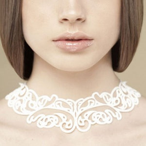 Batucada Baroco Necklace - White