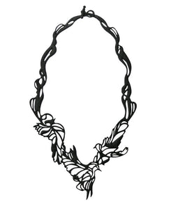 Batucada Bird Necklace - Black
