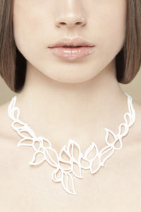 Batucada Drops Necklace - White