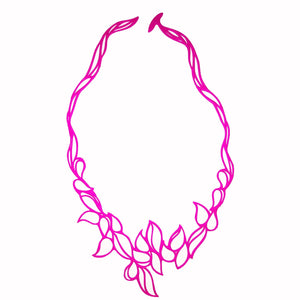 Drops Necklace Pink